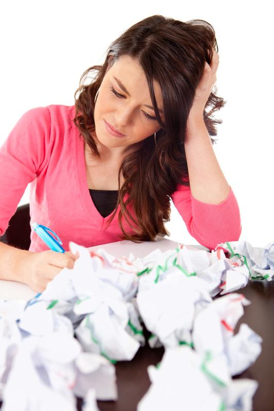 woman making edits